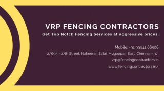 Fencing Contractors in Coimbatore | VRP Fencing