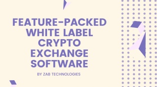 White label crypto exchange software for sale!!